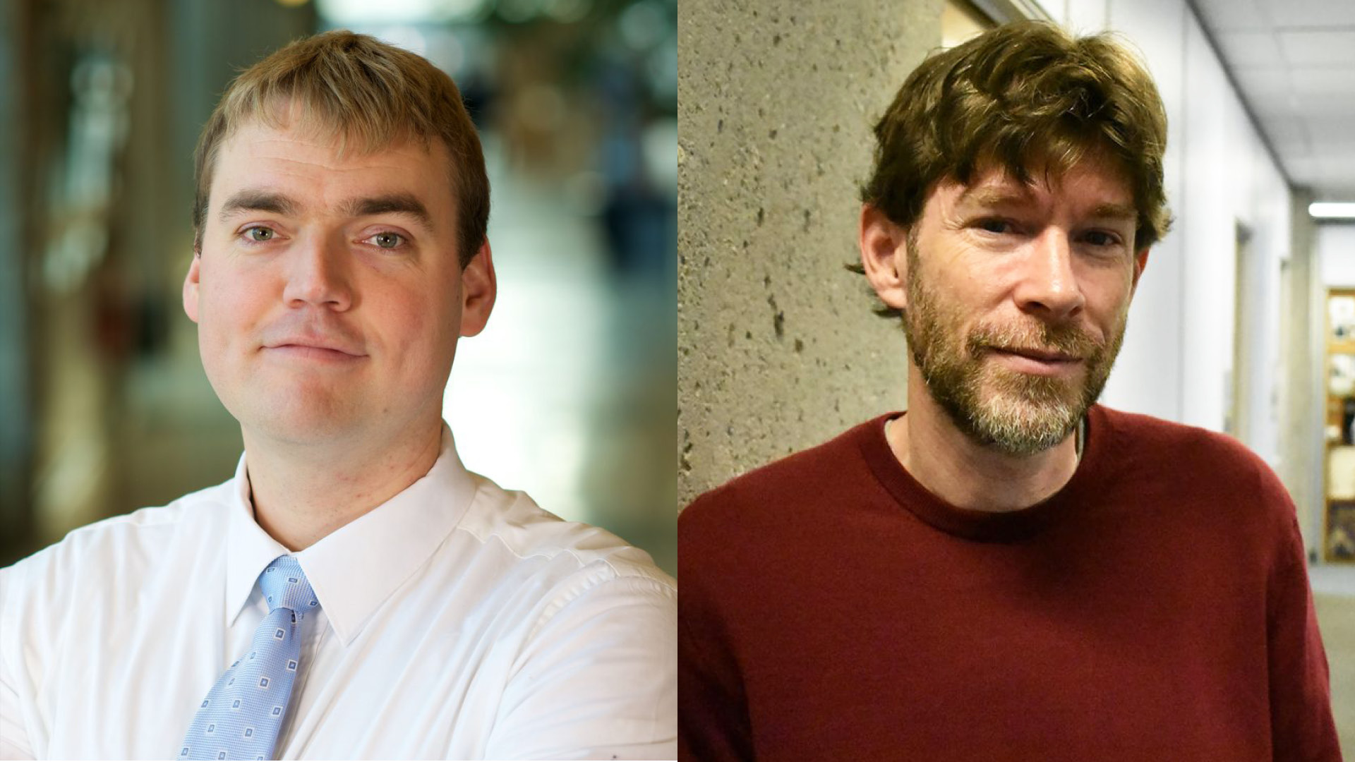 SSHRC Insight Grant award winners Dr. Benjamin Bryce (left), and Dr. Eagle Glassheim (right).